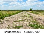 Abandoned Stone Paved Country...