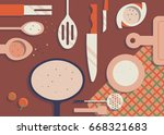 kitchen items | Shutterstock .eps vector #668321683