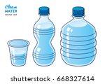 water bottles and glass... | Shutterstock .eps vector #668327614