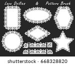 a set of lacy napkins of...   Shutterstock .eps vector #668328820