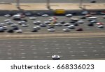 cars dubai multi lane highway.... | Shutterstock . vector #668336023