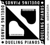 Dueling Pianos Logo Creative...