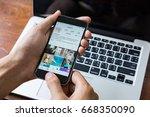 chiang mai  thailand   june 28  ... | Shutterstock . vector #668350090