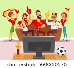 cartoon illustration of a... | Shutterstock . vector #668350570