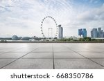 empty sidewalk with modern... | Shutterstock . vector #668350786