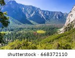 yosemite valley as seen from... | Shutterstock . vector #668372110