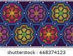 indigenous flowers   Shutterstock .eps vector #668374123