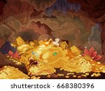 illustration of a magic... | Shutterstock .eps vector #668380396
