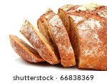 bread isolated on white   Shutterstock . vector #66838369