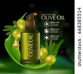 olive oil organics natural skin ... | Shutterstock .eps vector #668385514