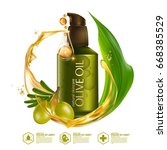 olive oil organics natural skin ... | Shutterstock .eps vector #668385529