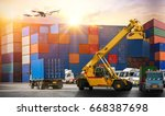 industrial container cargo... | Shutterstock . vector #668387698