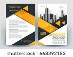brochure  flyer  annual report  ... | Shutterstock .eps vector #668392183