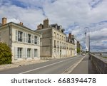 Small photo of Historical buildings on the Quai de l'Abbe Gregoire street in Blois, France