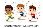 vector set of different nation... | Shutterstock .eps vector #668395234