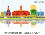 dover skyline with color... | Shutterstock . vector #668397274
