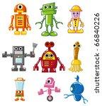 cartoon robot | Shutterstock .eps vector #66840226