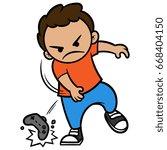 cartoon angry video gamer... | Shutterstock .eps vector #668404150