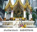 ratchaprasong shrine   bangkok  ...   Shutterstock . vector #668409646