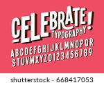 vector of bold abstract font... | Shutterstock .eps vector #668417053