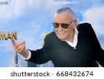 stan lee at the world premiere... | Shutterstock . vector #668432674