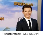 tom holland at the world... | Shutterstock . vector #668433244