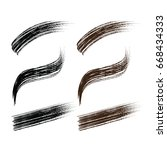 set of black   brown mascara... | Shutterstock .eps vector #668434333
