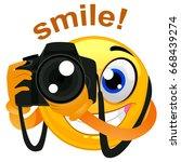 vector illustration of a smiley ... | Shutterstock .eps vector #668439274