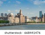 shanghai bund historical... | Shutterstock . vector #668441476