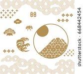 japanese background vector.... | Shutterstock .eps vector #668442454