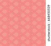 seamless abstract pattern.... | Shutterstock .eps vector #668450539