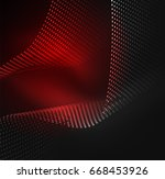 glowing particles wave design... | Shutterstock .eps vector #668453926