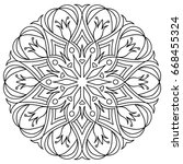 flower mandala. decorative... | Shutterstock .eps vector #668455324