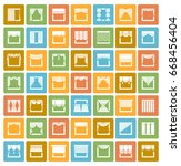 window draperies  valances ...   Shutterstock .eps vector #668456404