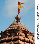 Small photo of HYDERABAD,INDIA-JUNE 25:Architectural details of Hindu God Lord Jagannatha temple during Rath Yatra celebrations on June 25,2017 in Hyderabad,India