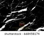 vector black marble texture...   Shutterstock .eps vector #668458174