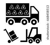 illustration of logistic... | Shutterstock .eps vector #668458513