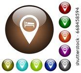 hotel gps map location white... | Shutterstock .eps vector #668458594