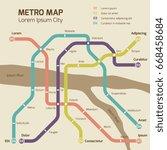 vintage colors subway map...