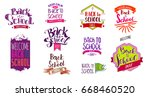 big set of welcome back to... | Shutterstock .eps vector #668460520