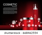 cosmetic cream with glowing... | Shutterstock .eps vector #668462554
