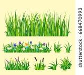 green grass nature design... | Shutterstock .eps vector #668470993