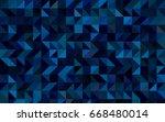 dark blue vector low poly... | Shutterstock .eps vector #668480014