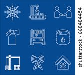 set of 9 industry icons such as ...   Shutterstock .eps vector #668484454