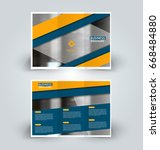 brochure template. business... | Shutterstock .eps vector #668484880