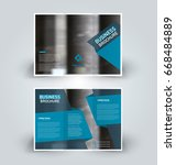 brochure template. business... | Shutterstock .eps vector #668484889