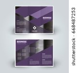 brochure template. business... | Shutterstock .eps vector #668487253