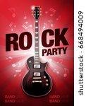 vector rock festival flyer...   Shutterstock .eps vector #668494009