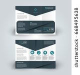brochure template. business...   Shutterstock .eps vector #668495638