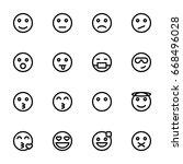 emoticon icon set | Shutterstock .eps vector #668496028